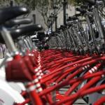 Rote Fahrräder